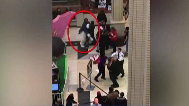 Mall Easter Bunny brawls with shopper