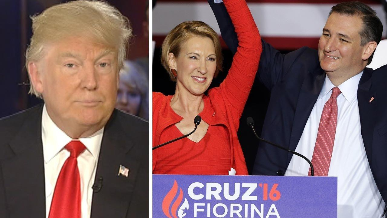 Trump blasts Cruz-Fiorina ticket roll-out as 'waste of time'