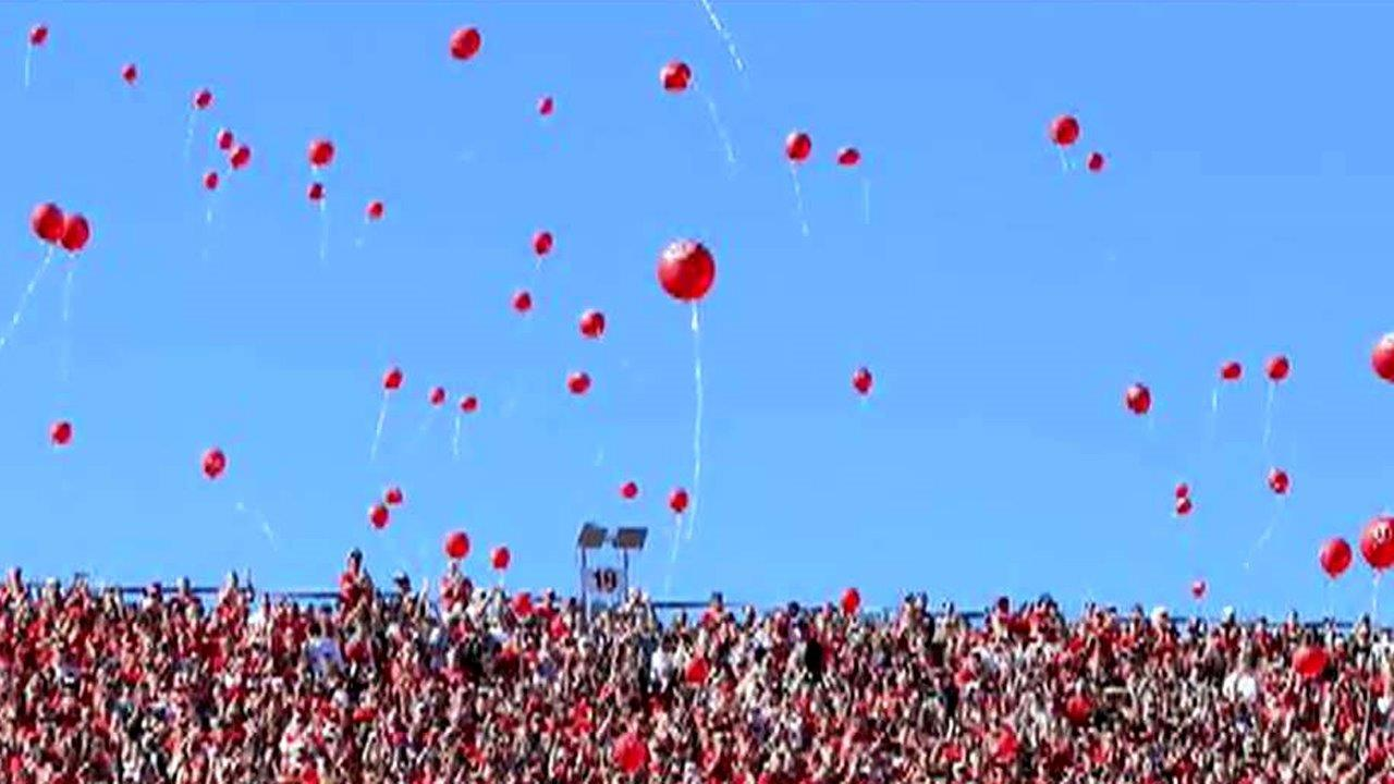 Lawsuit seeks to ban balloon releases at University of Nebraska football games