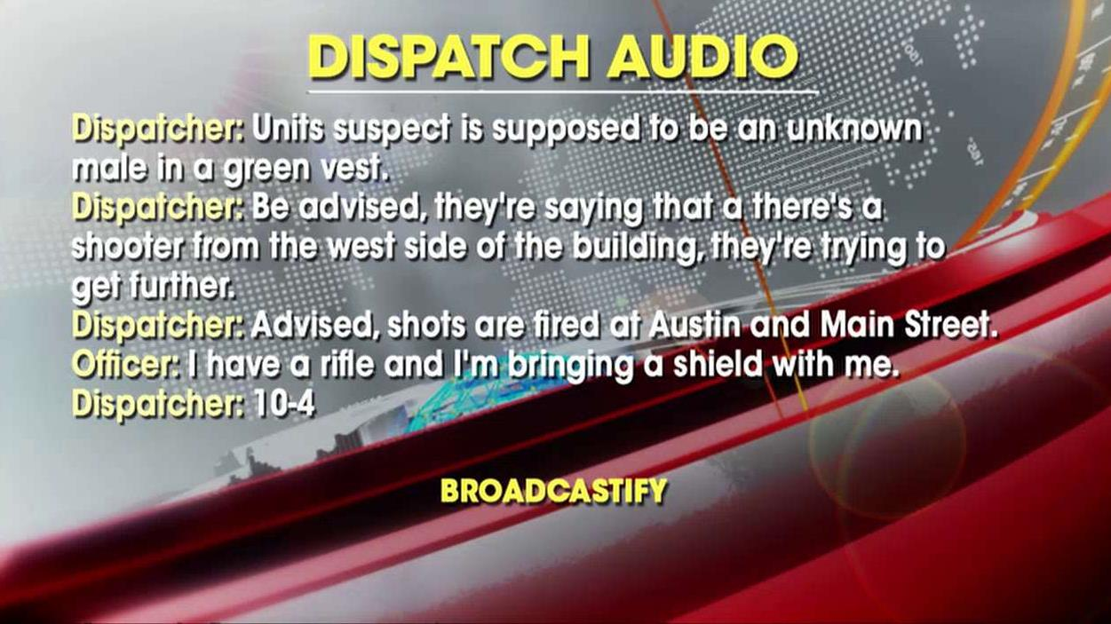 Audio of dispatchers alerting officers released