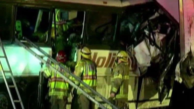 Tire treads below standard in deadly California tour bus crash, investigator says