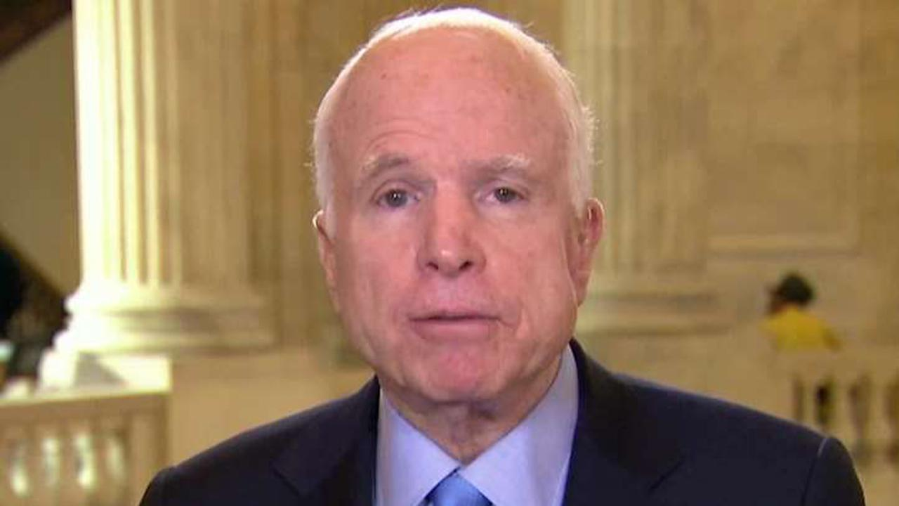 Sen. McCain: Dossier leak was 'totally wrong'
