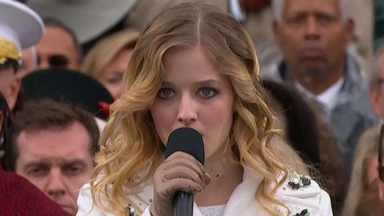 Jackie Evancho sings the national anthem