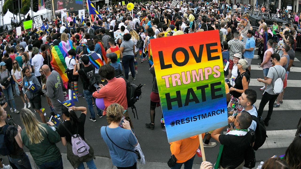 Thousands march in support of LGBT rights