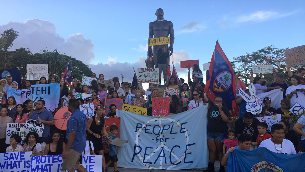 Guam shows poise in wake of North Korea threats
