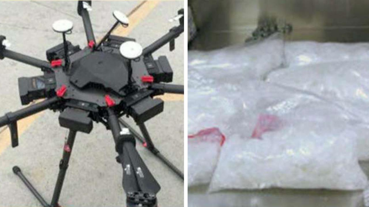 Drone used to smuggle meth across us mexico border in august the u s border patrol arrested a man retrieving 13 pounds of
