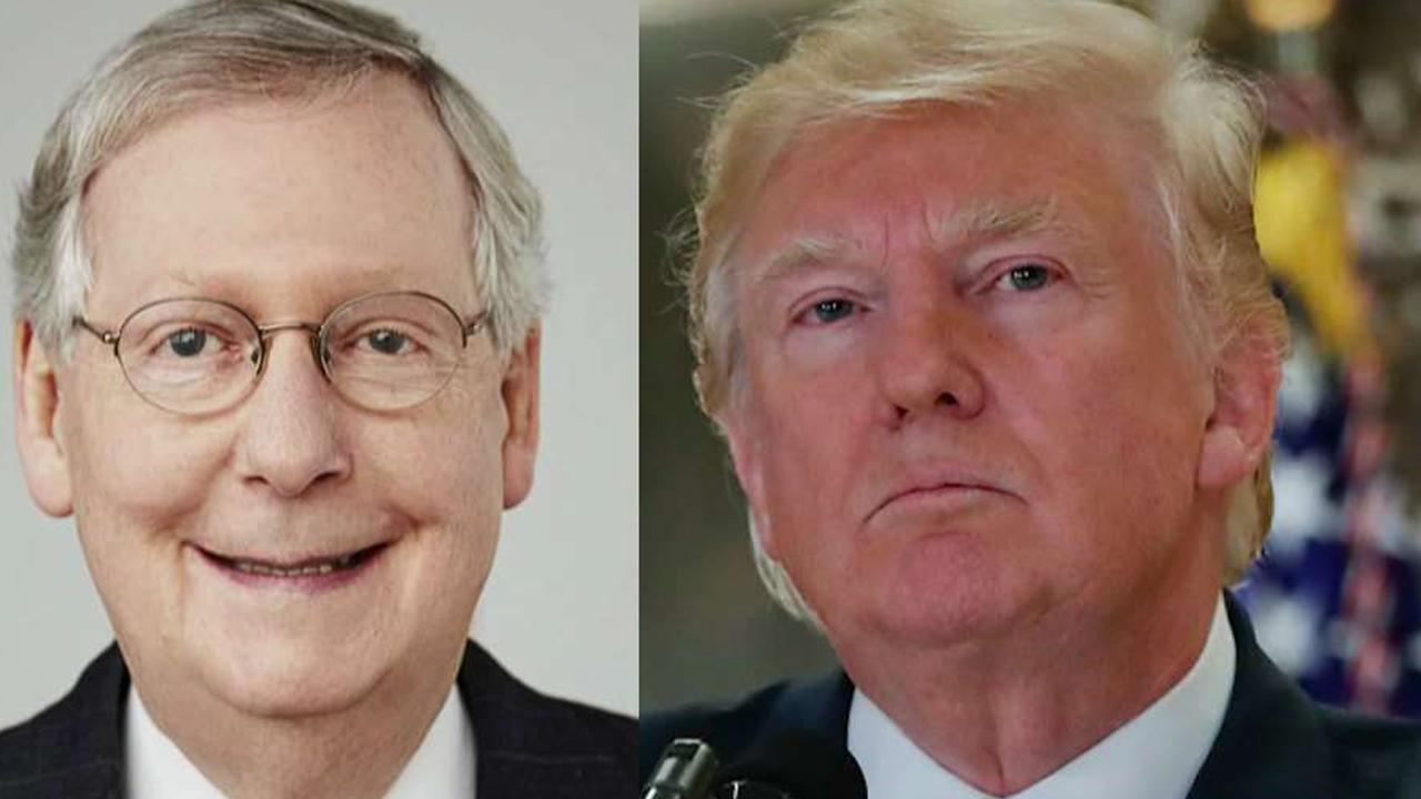 Trump's shutdown threat escalates feud with McConnell, Ryan
