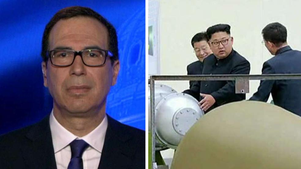 Sec. Mnuchin talks cutting off North Korea economically