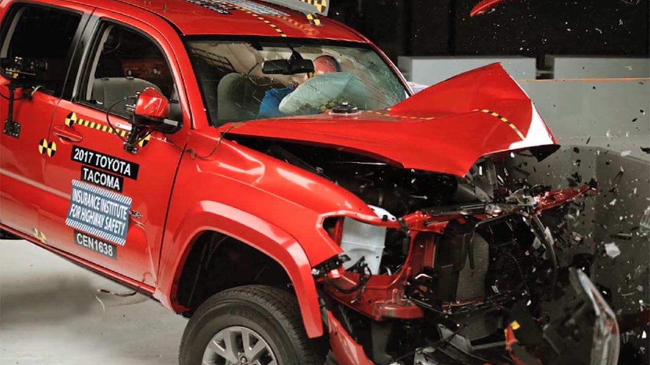 Toyota Tacoma tops small pickup crash tests