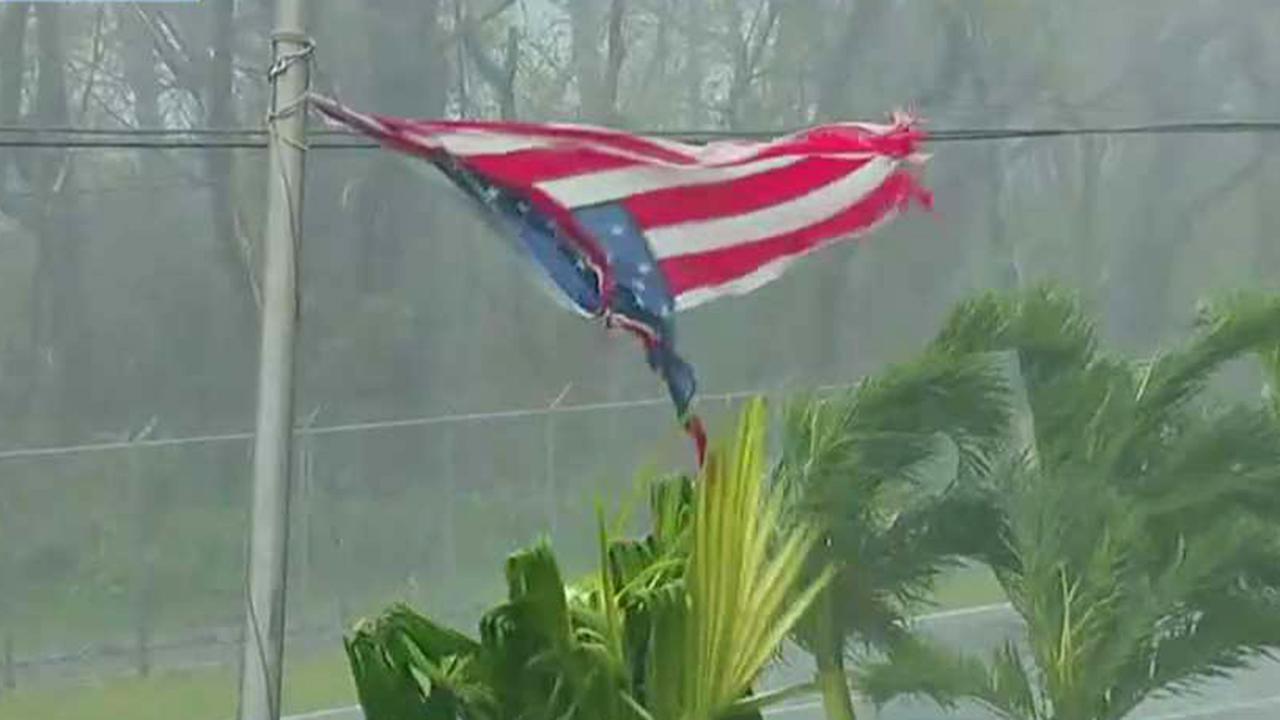 Maria hits Puerto Rico as a Category 4 hurricane