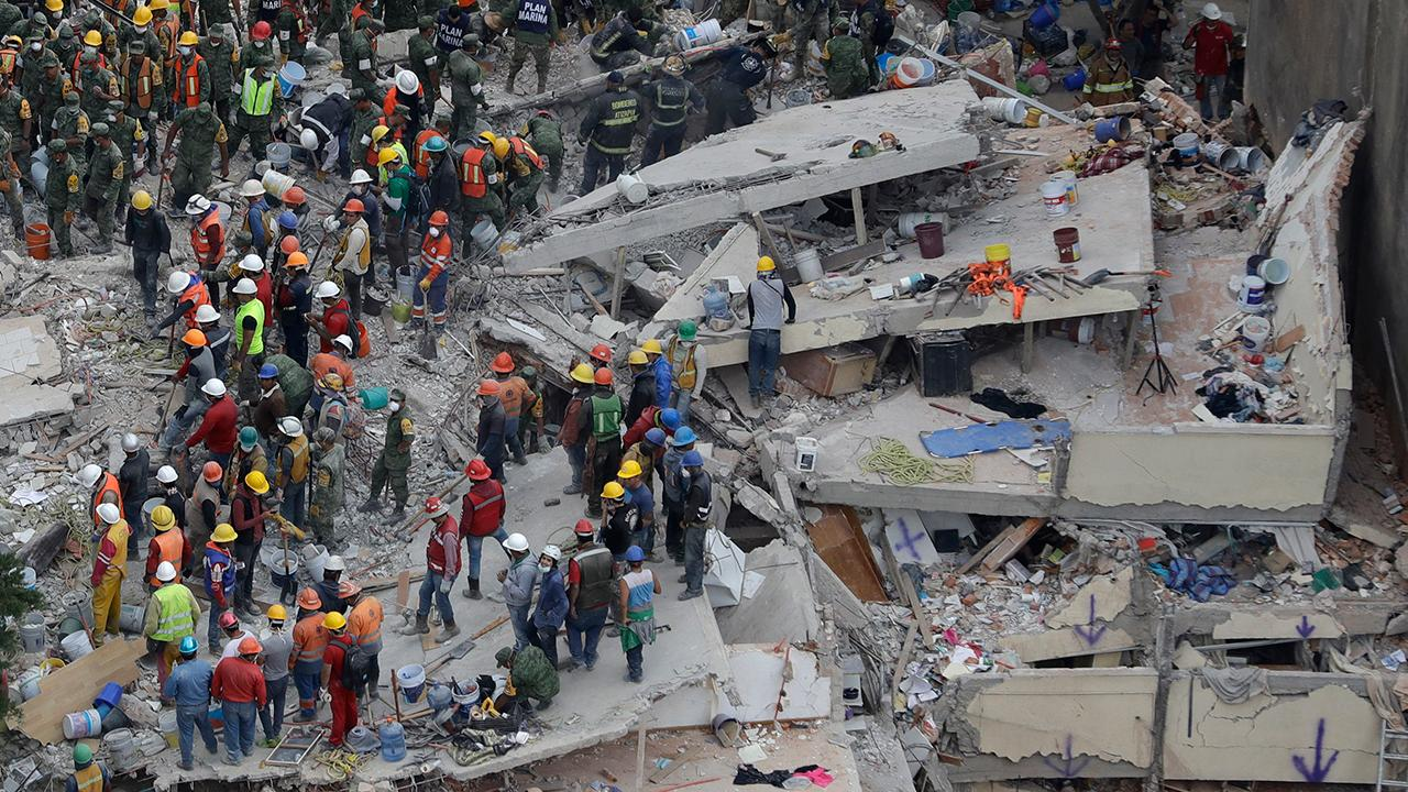 Photo purports to show church damage from Mexico quake