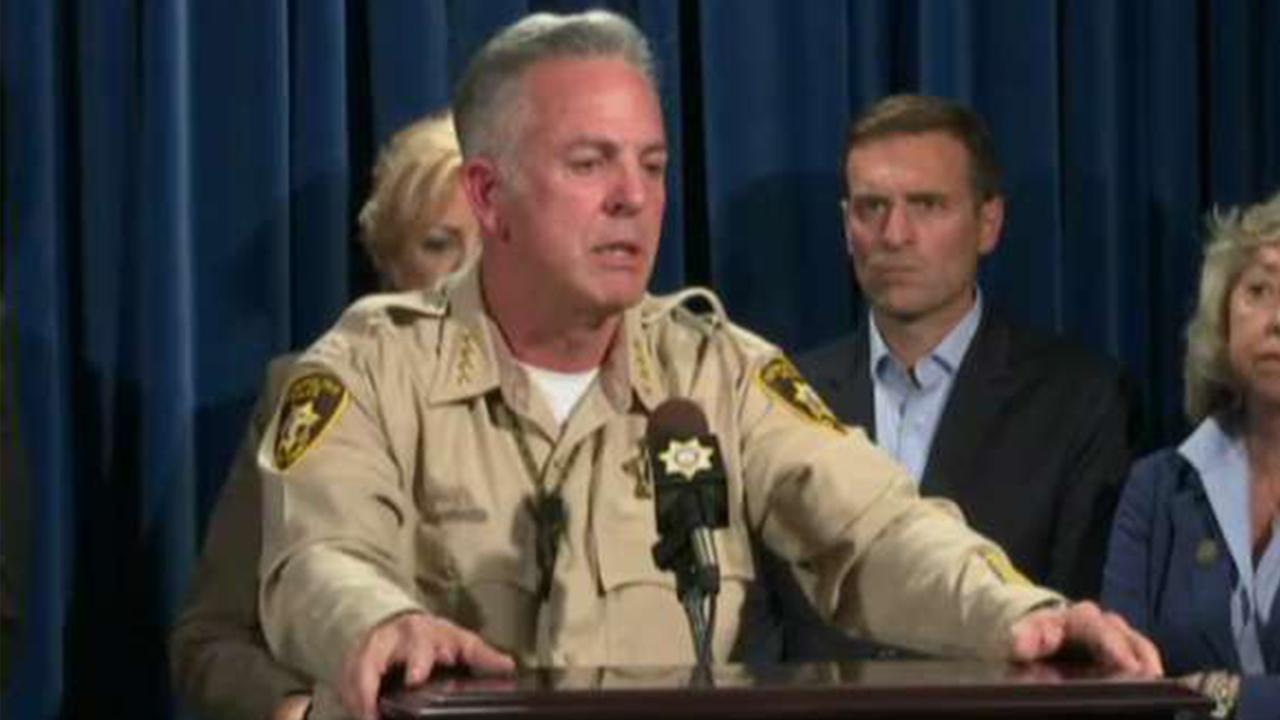 Sheriff fields reporters' questions on Las Vegas attack