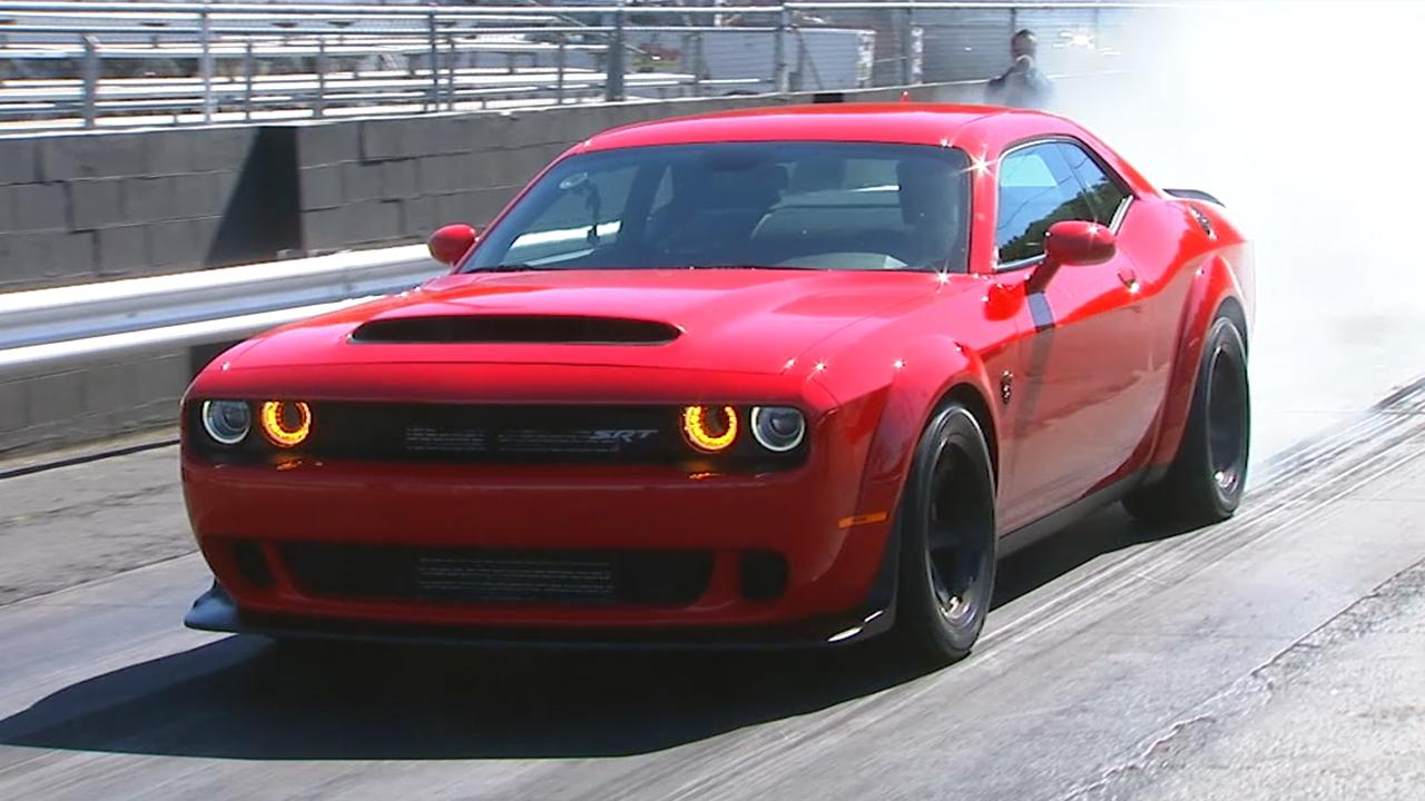 The 840 Hp Demon Is The Most Powerful American Car Ever And The Quickest  Production Car