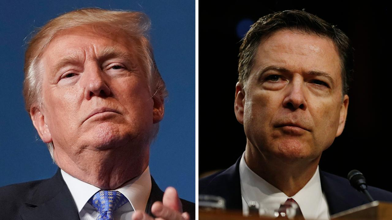 Trump says Comey 'totally protected' Clinton, swipes at DOJ as new documents confirm claims