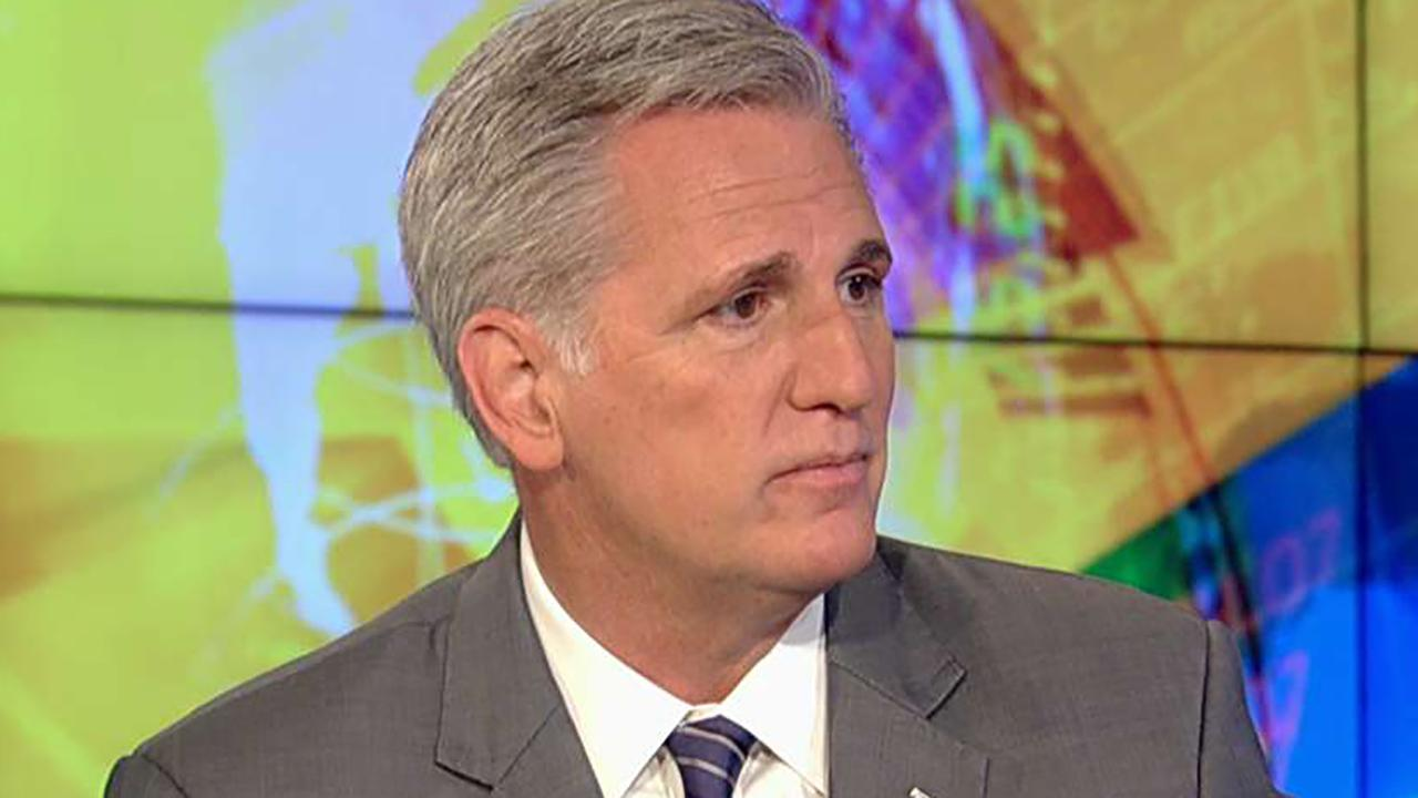 House majority leader discusses moving the legislation forward on 'Sunday Morning Futures.'