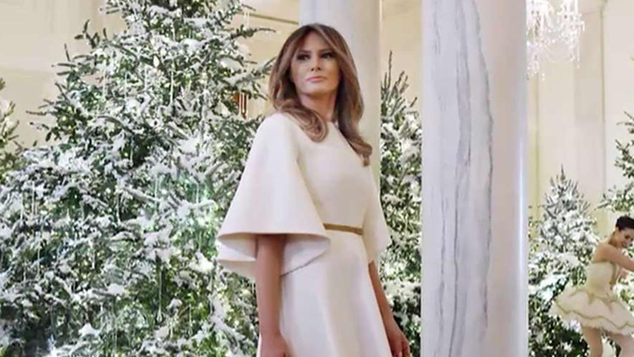 Melania mocked over White House Christmas decorations