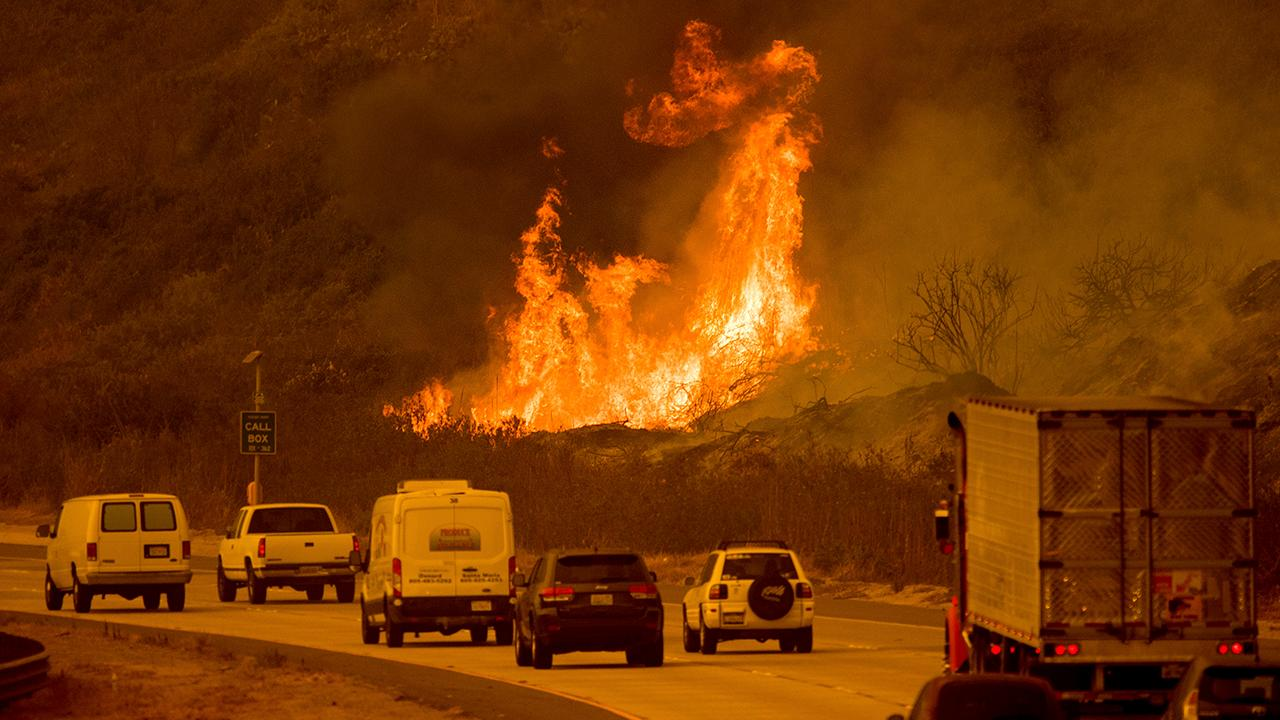 Devastating wildfires sweep across southern California