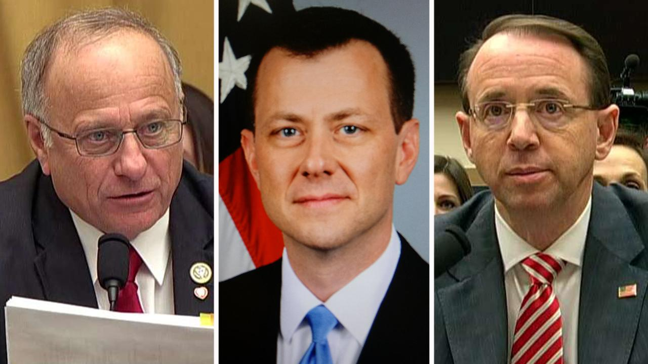 Rep. King presses Rosenstein over Strzok texts