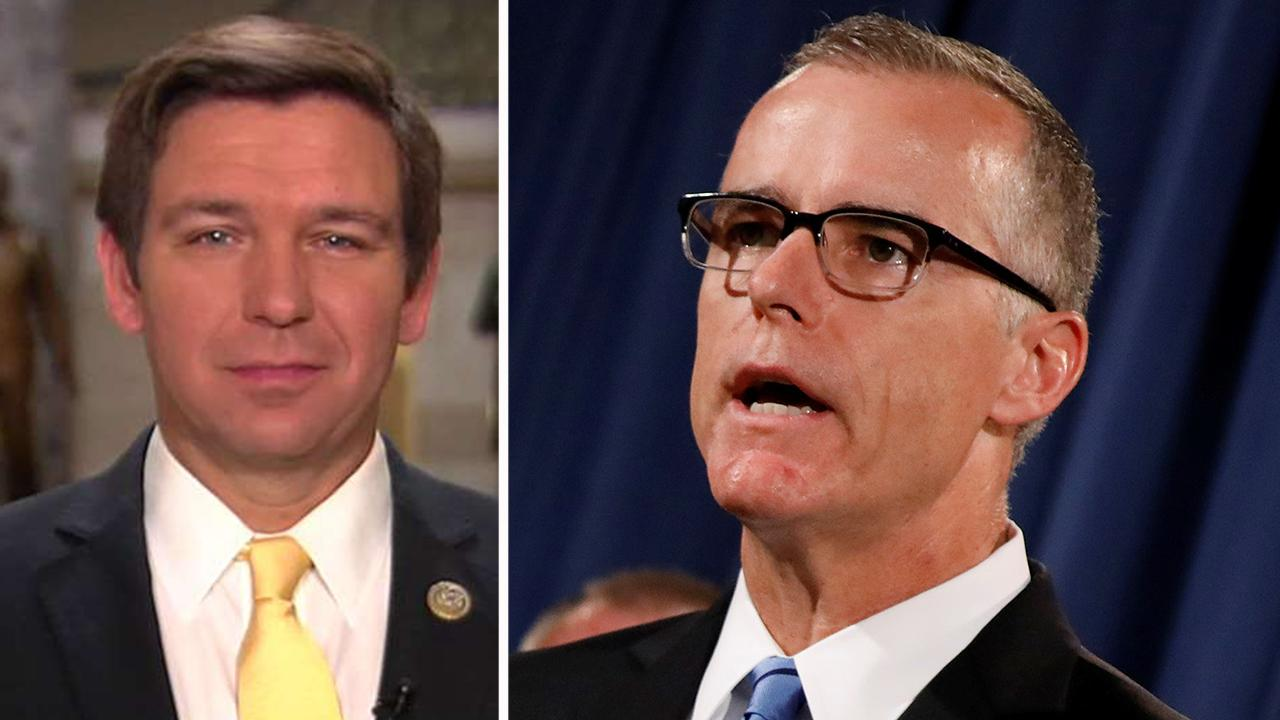 Rep. DeSantis: Why can't McCabe get his story straight?