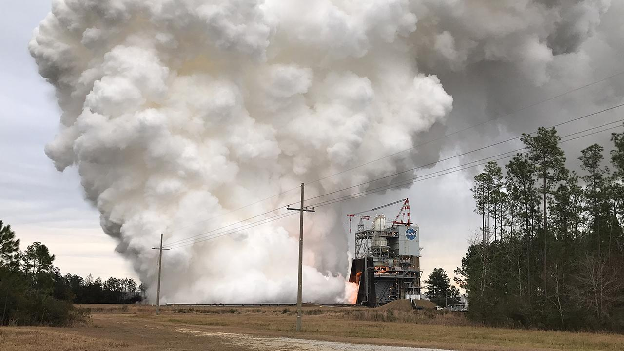 NASA test fires rocket engine with 3D-printed 'shock absorber' for deep space missions