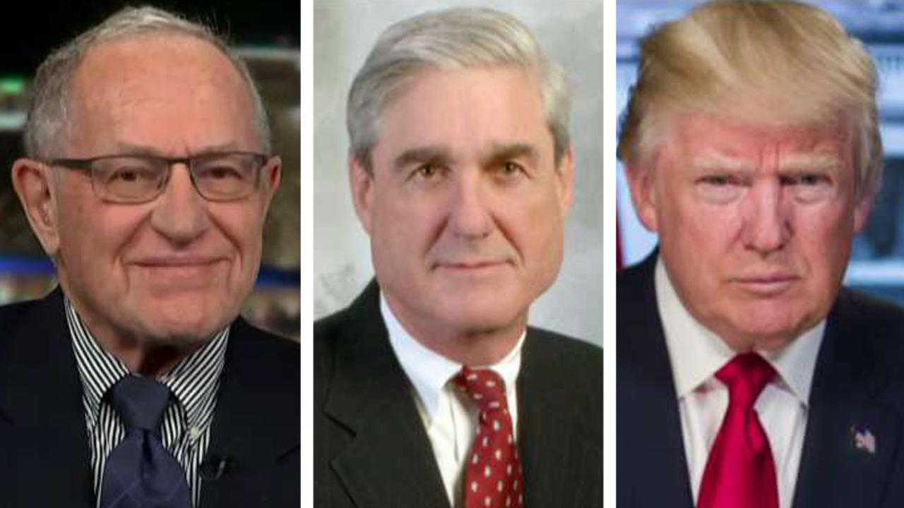 Dershowitz: Trump does have the authority to fire Mueller