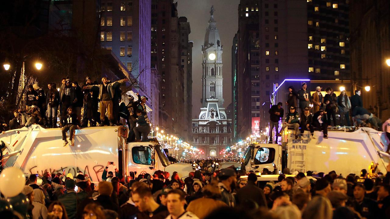 Eagles fans storm city after Super Bowl win