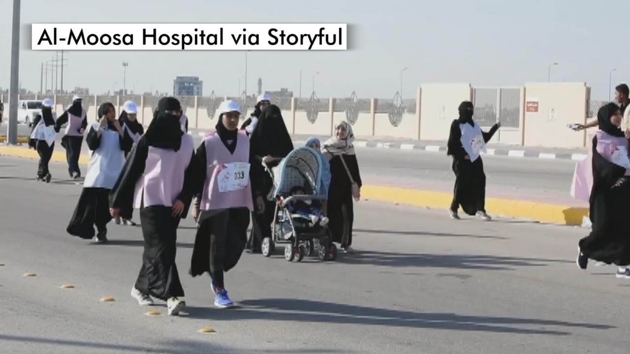 Saudi Arabia hosts its first race for women