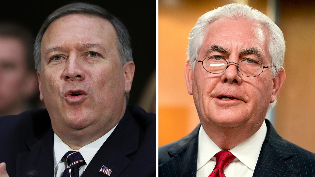 Pompeo and Tillerson meet to discuss transition