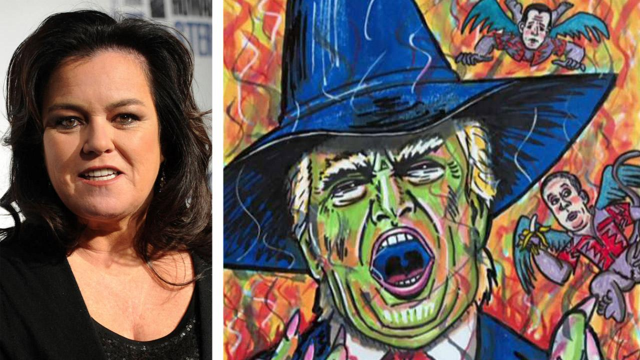 Rosie O'Donnell paints Trump portraits as way to cope