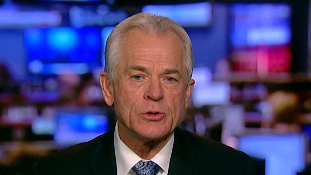 White House trade adviser Peter Navarro weighs in on 'Sunday Morning Futures' after the stock market takes a hit and China threatens to retaliate against Trump's tariff plan.