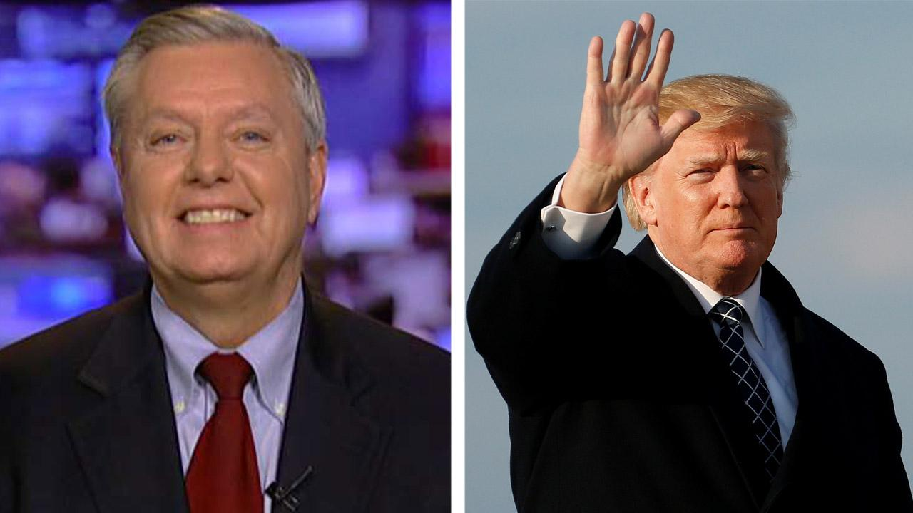 Graham hails Trump's stance on North Korea, trade and Russia