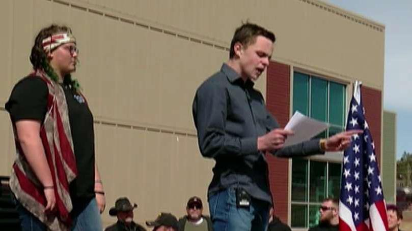 Students hold Second Amendment rally to counter walkout pushing for stricter gun laws