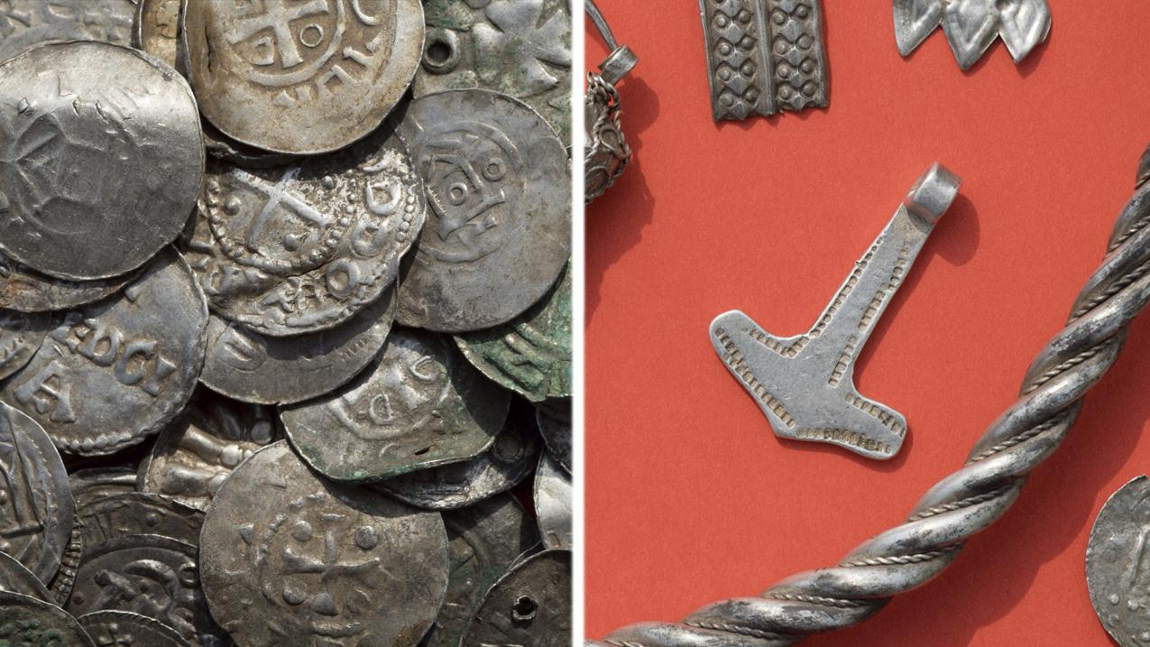 Viking treasures discovered: 'Thor's hammer' among silver haul found on Baltic island
