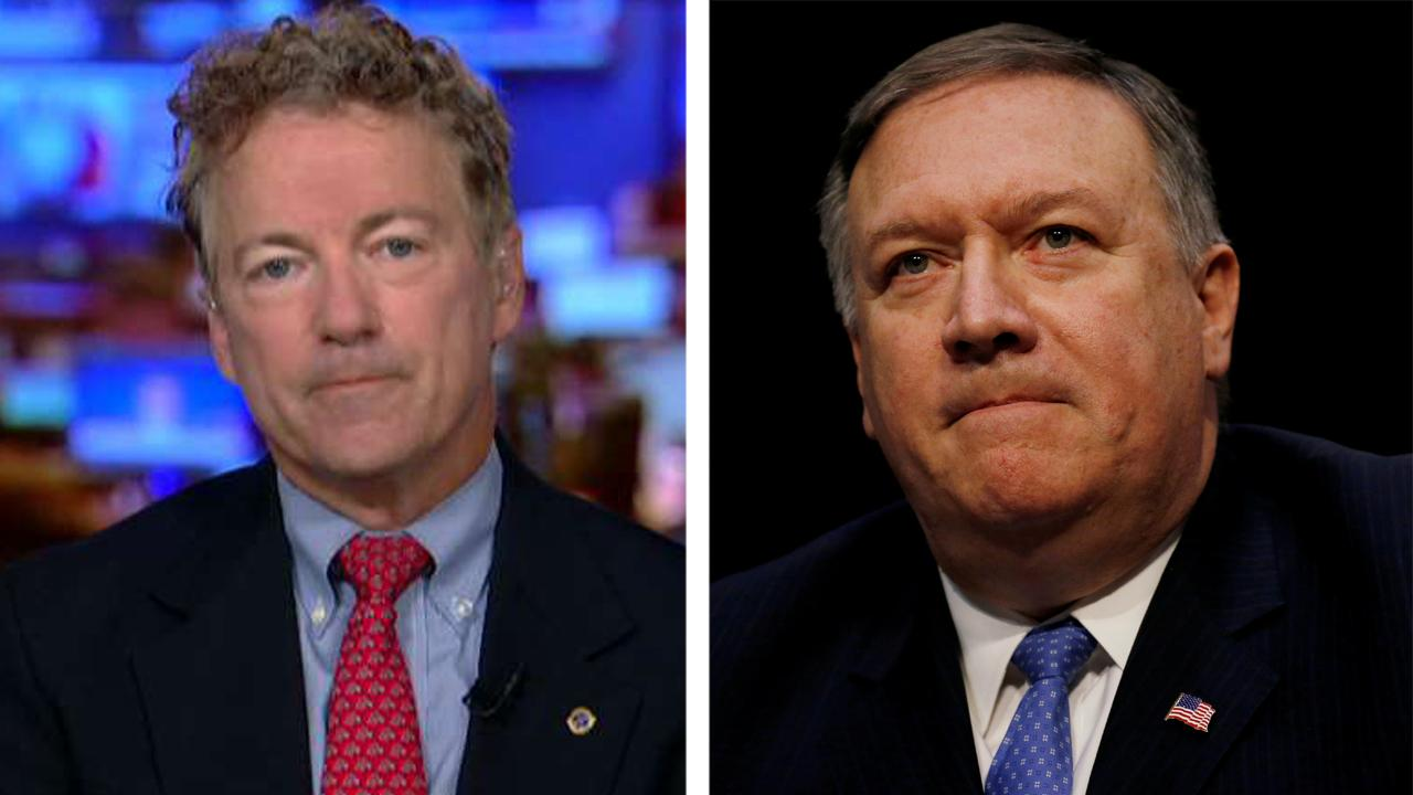 Senator Rand Paul talks change of heart on Mike Pompeo