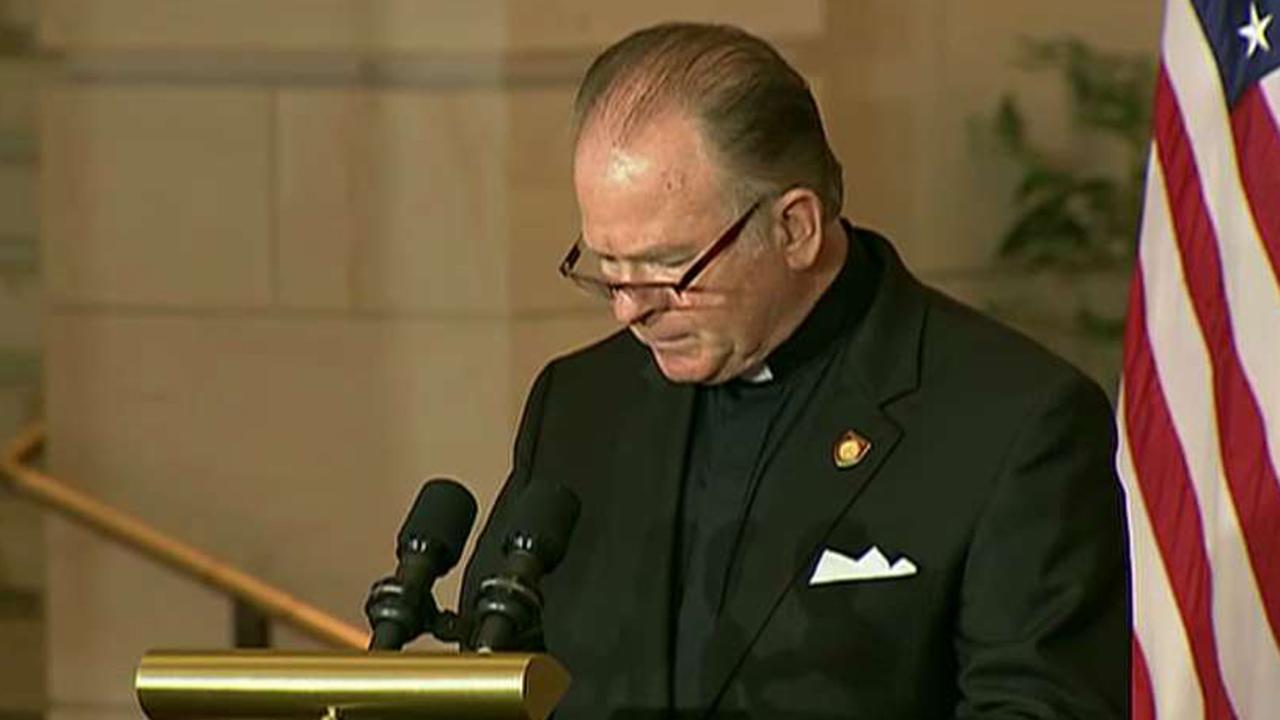 House chaplain Pat Conroy rescinds his resignation