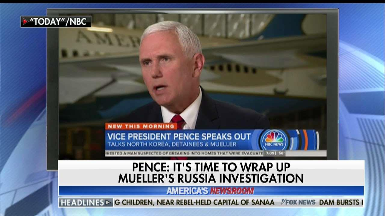 Pence: Mueller probe must come to an end.