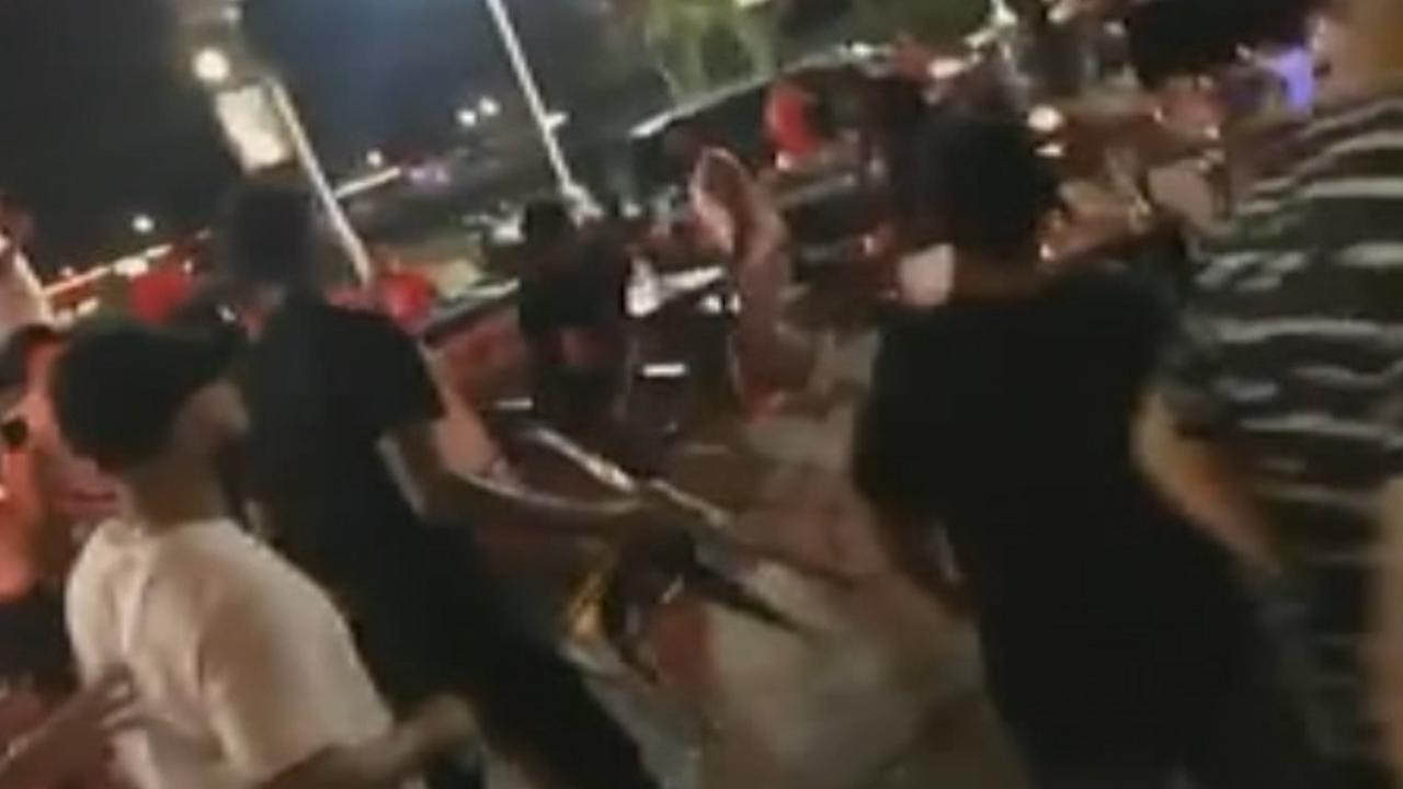 Chaotic Houston bar fight caught on camera