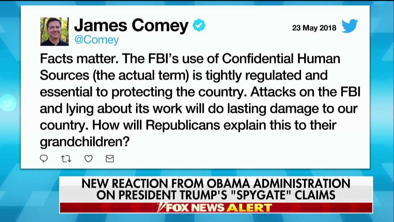 'Facts Matter': Comey Responds to Trump's 'Spygate' Claims
