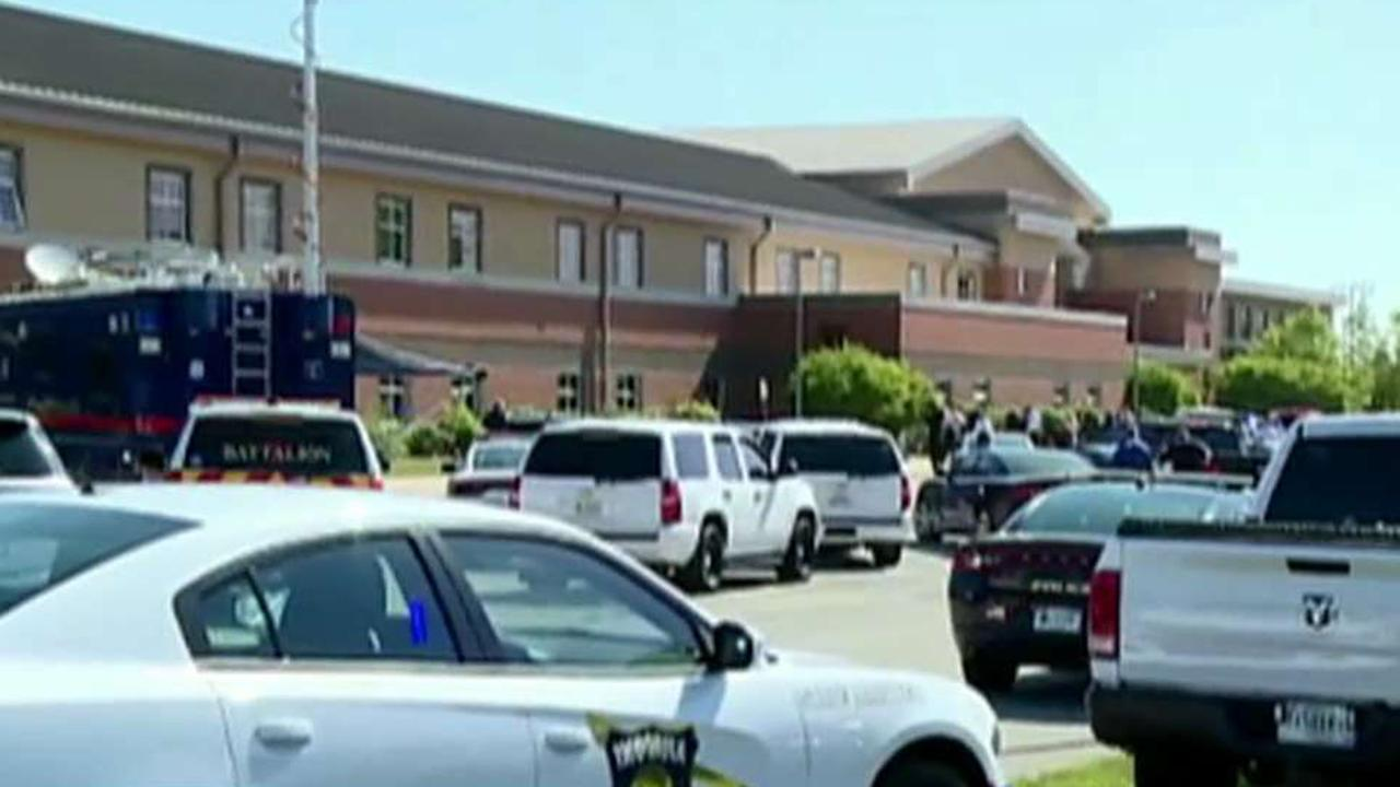 Male student in custody after shooting at Indiana middle school&#x3b; 2 victims reported