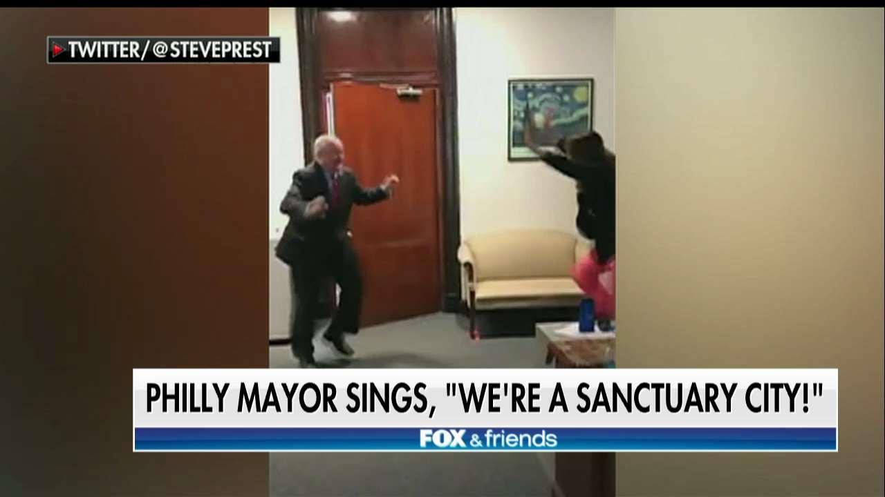 Mayor dances over Philly's sanctuary city status.