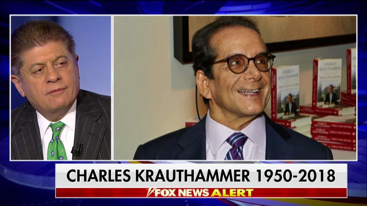 Napolitano Reflects on Krauthammer