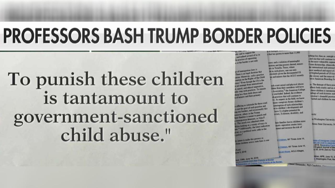 Professors call border policy 'child abuse'