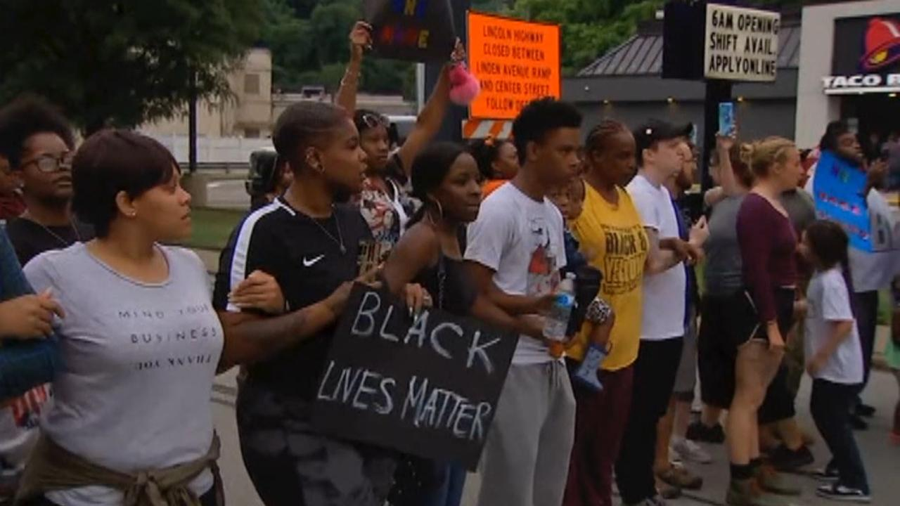 Demonstrators protest fatal police shooting near Pittsburgh