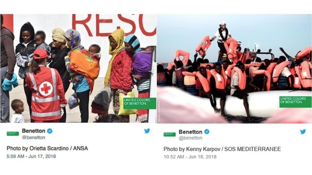 Benetton's facebook charity