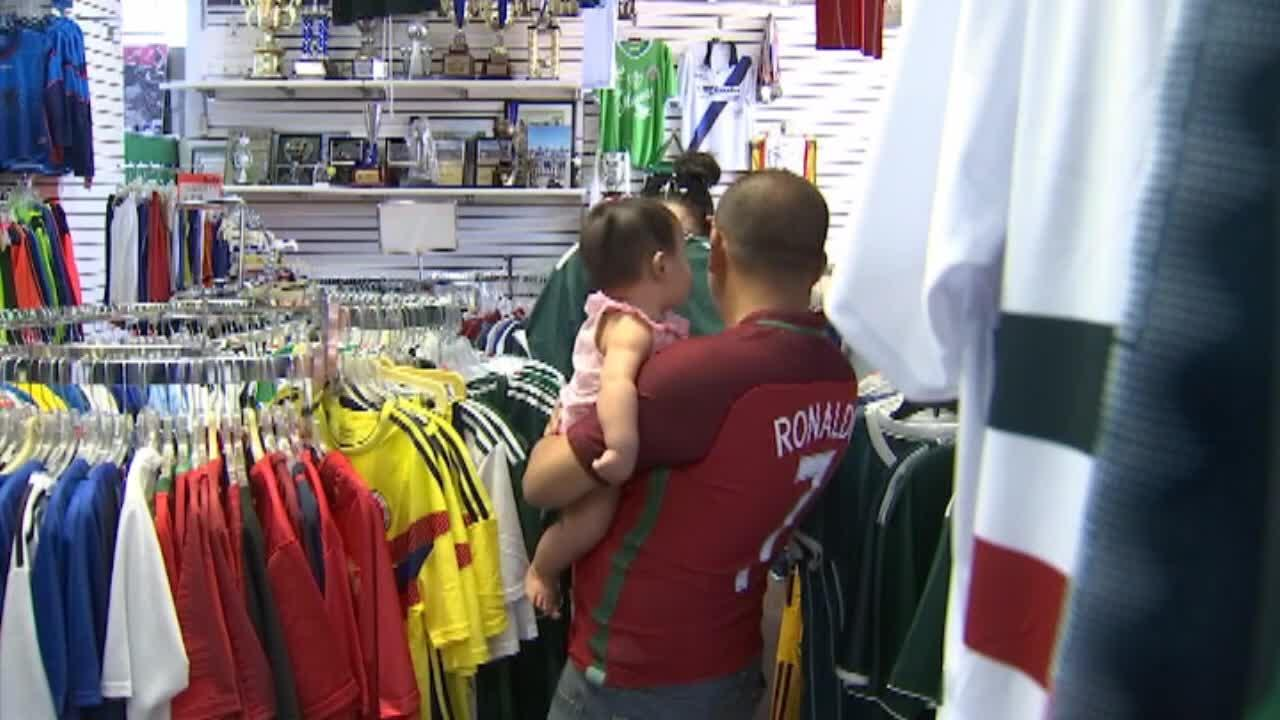 World Cup fever sends fans flocking to stores