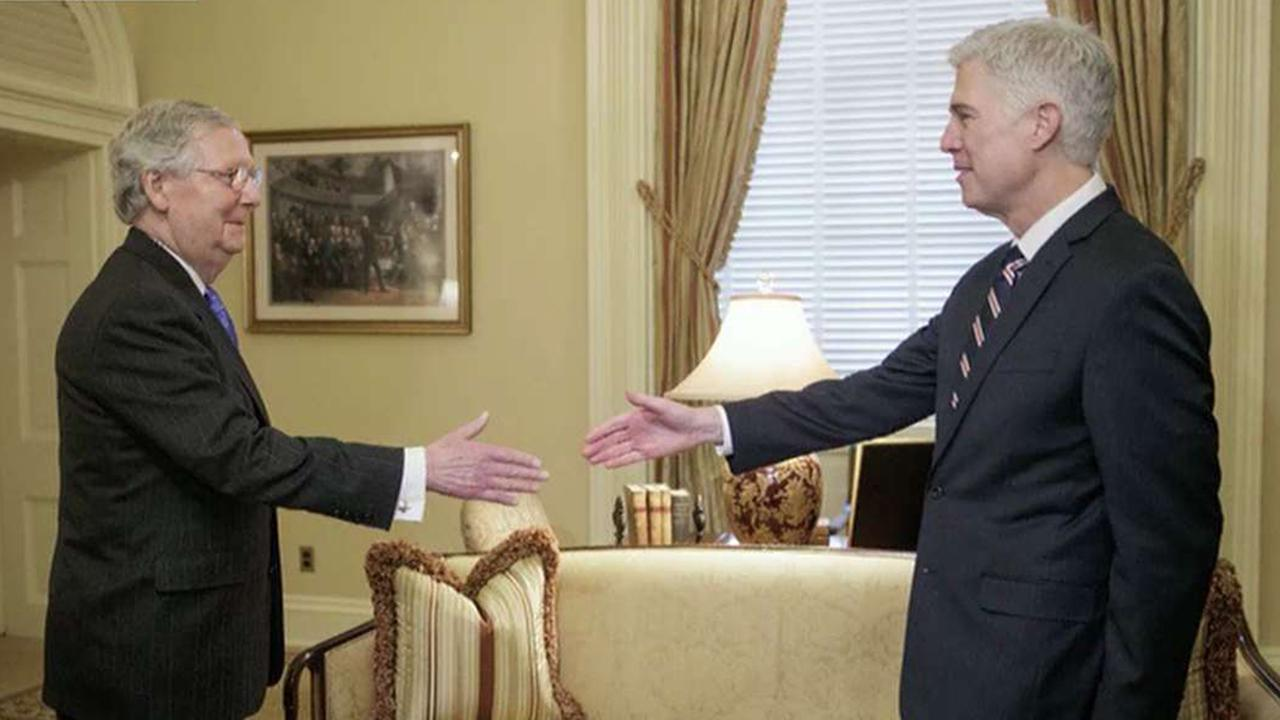 Mitch McConnell trolls with photo of Gorsuch