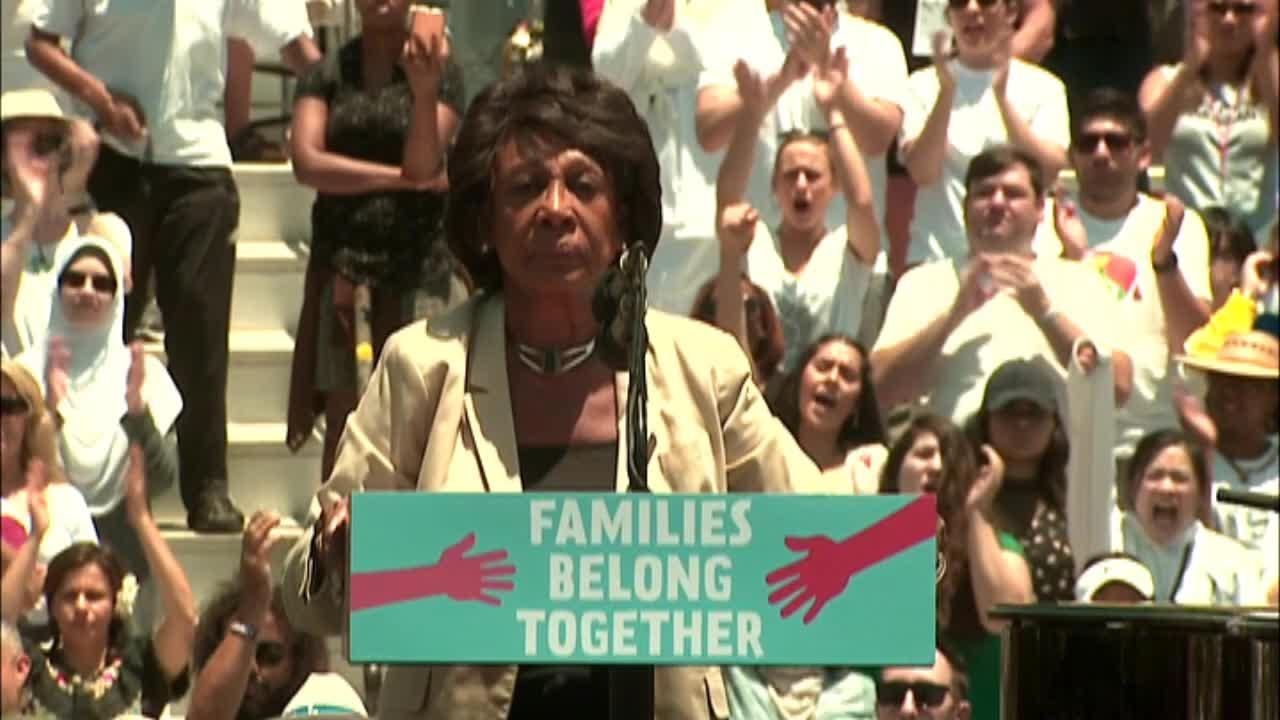 Maxine Waters speaks at 'Families Belong Together' rally