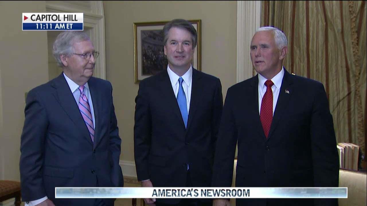 Pence speaks about Brett Kavanaugh on Capitol Hill.