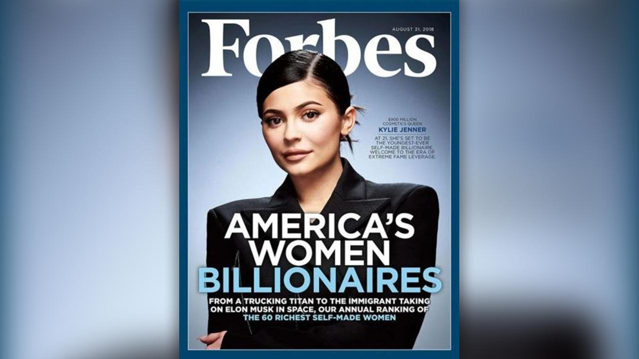 Top Talkers: The 20-year-old graces the cover of Forbes 4th annual list of America's Richest Self-Made Women.