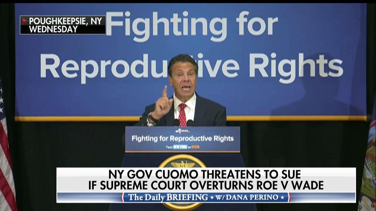 Andrew Cuomo Threatens to Sue If Roe V Wade Overturned